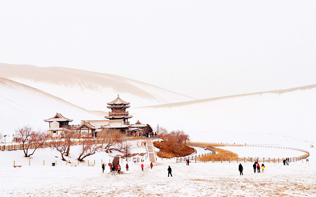 Dunhuang Echoing Sand Mountain and Crescent Lake
